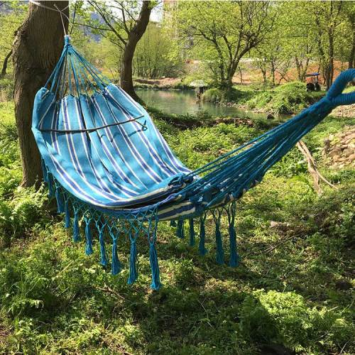 High quality blue kids lightweight and portable outdoor camping hammock