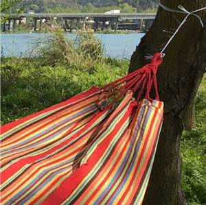 Travel portable camping fabric outdoor hammock bed swing garden