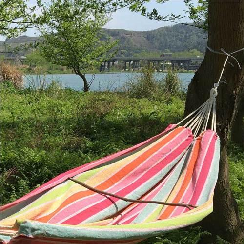 Garden swing survival 50% cotton 50%polyester tree hammock swing chair