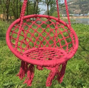 Red cotton kid garden beach hanging chair indoor hammock