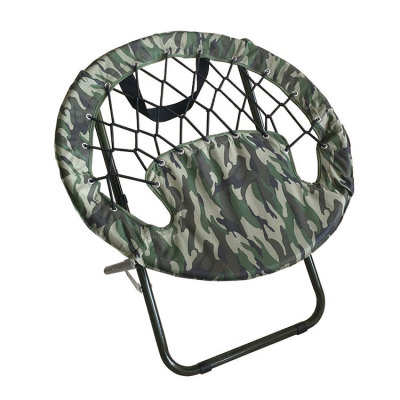 Bungee Lazy Balcony Folding Saucer Chair-Cloudyoutdoor