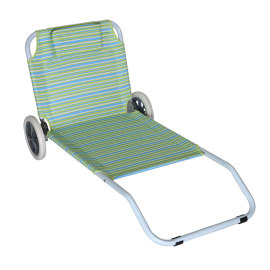 Steel Frame Beach Folding Sand Chair with Wheels-Cloudyoutdoor