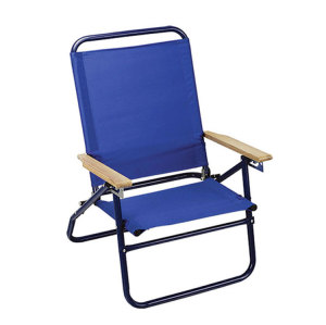Small Solid Sun Folding Beach Chair with PE Coated-Cloudyoutdoor