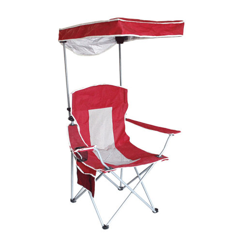 Custom Portable Folding Picnic Chair with Canopy for Camping Beach-Cloudyoudoor