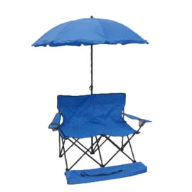 Good Picnic Double Folding Beach Camping Chair with Umbrella-Cloudyoutdoor
