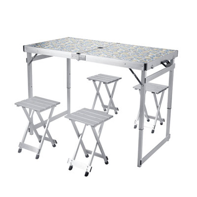 Folding Dining Table Set Picnic Table and Chairs for Camping-Cloudyoutdoor