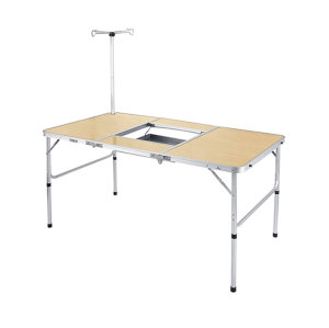 A Barbecue Table Folding Picnic Table Chairs with a Bracket-Cloudyoutdoor