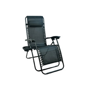 Folding Zero Gravity Recliner Chair Sun Lounge Chair with Footrest-Cloudyoutdoor