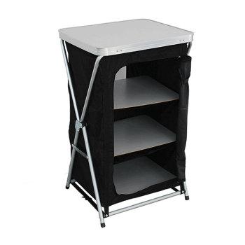 Best Selling Three Layer alu Camping Outdoor Cupboard Wardrobe Cabinet-Cloudyoutdoor