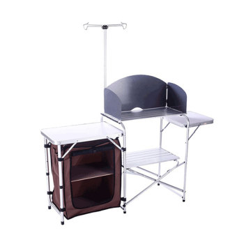 Portable Folding Aluminum Camping Cabinet for Family Reunion-Cloudyoutdoor