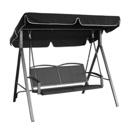 Modern Outdoor Patio Double Seats Hammock Swing Chair with Canopy-Cloudyoutdoor