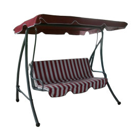 Garden 3 Seaters Metal Swing Chair with Canopy-Cloudyoutdoor