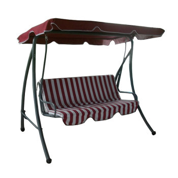 Garden 3 Seaters Metal Swing Chair with Canopy-Cloudyoutdoor