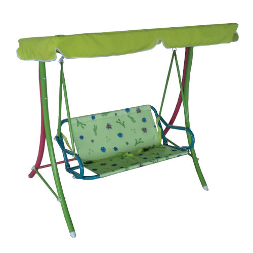 Flower Printed Hanging Swing Chair with Canopy for Outdoor Garden-Cloudyoutdoor