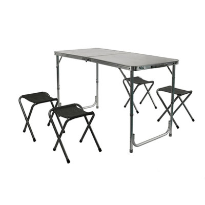 Folding Lightweight Outdoor Dining Tables and Chairs Set-Cloudyoutdoor
