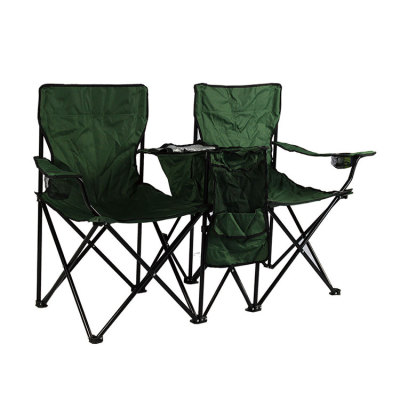 Lightweight Camping Chairwith Cooler Bag for Two-Cloudyoutdoor