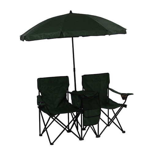 Lightweight Camping Chair with Cooler Bag for Two-Cloudyoutdoor