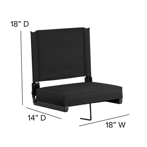 Folding Stadium Bleacher Seat Chairs with Hook-Cloudyoutdoor