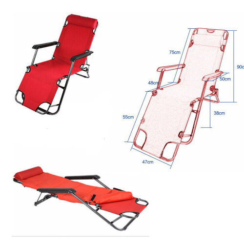 Folding Bed Reclining Lounge Patio Chair for Camping, Swimming Pool,Home-Cloudyoutdoor