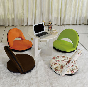Living Room Leisure Floor Chair with Back Support Round Wholesale-Cloudyoutdoor