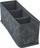 PEVA folding storage box with 3 compartments/ storage box/ PEVA storage box