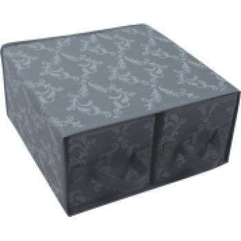 PEVA folding storage box with 2 drawers
