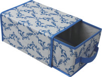 Foldable Non-woven folding storage box with 1 drawers