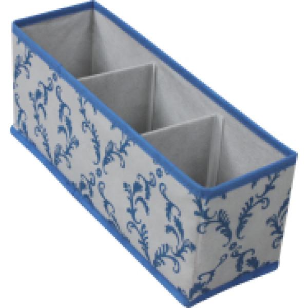 Non-woven folding storage box with 3 compartments/ storage box/ non-woven storage box
