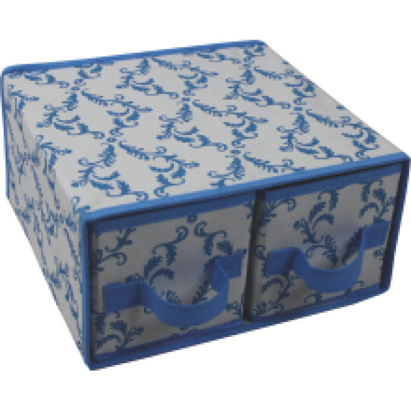 Foldable  Non-woven folding storage box with 2 drawers