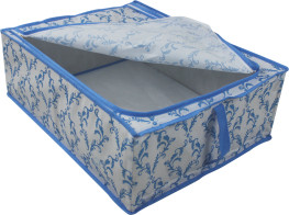Folding storage frame box with handle, one zipper on the top/ folding storage box