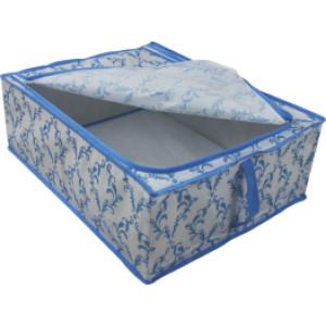 Folding storage frame box with handle, one zipper on the top/ folding storage box