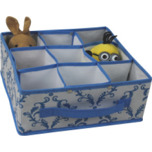 Non-woven folding storage box with 9 compartments