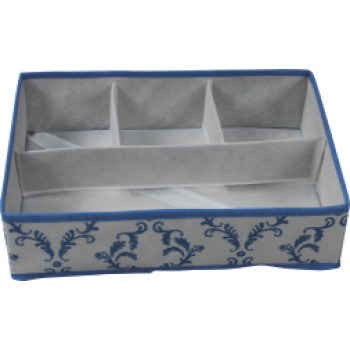 Non-woven folding storage box with 4 compartments