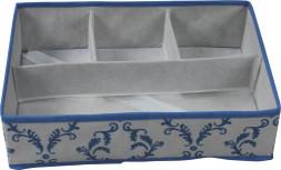 Scatola di immagazzinaggio pieghevole non tessuta con 4 scomparti