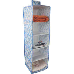 Nonwoven Hanging Shoes Organizer with 5 Compartments