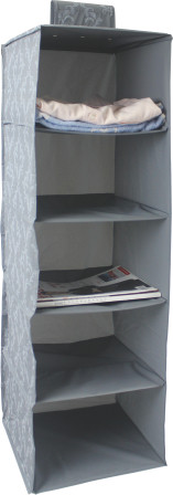Organizzatore di scarpe appese PEVA con 5 scomparti