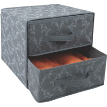 Factory direct sale PEVA folding storage box with 2 drawers