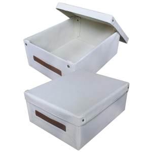 Wholesale Hot-pressed storage box Non-woven storage box