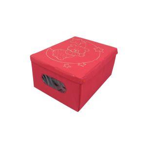 Custom design hot-pressed storage box non-woven storage box
