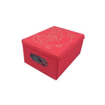 Custom design hot-pressed storage box non-woven storage box