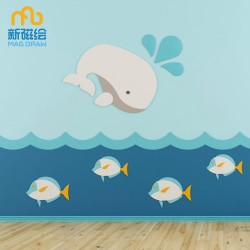 Custom Shape Decoration Color Frameless Whiteboard