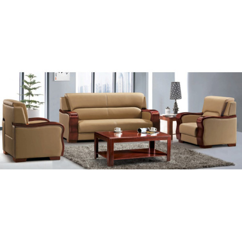 Wholesale Solid wood frame cozy office sofa leather furniture(SF-6050)