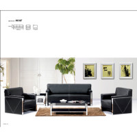 Wholesale Modern Stainless Steel Sofa Office Meeting Sofa leather furniture(SF-H018)