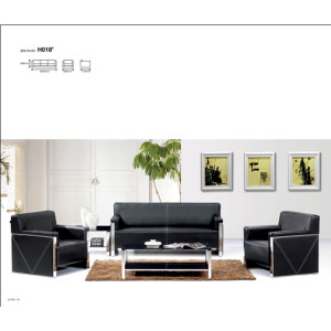 Modern Stainless Steel Sofa office  Meeting Sofa leather furniture(SF-H018)
