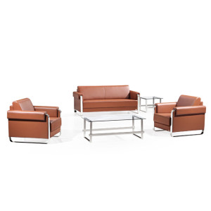 Custom Made Office Sofa-Contemporary leather furniture