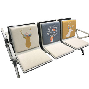 3 seaters Airport Waiting Chair with custom printing on back