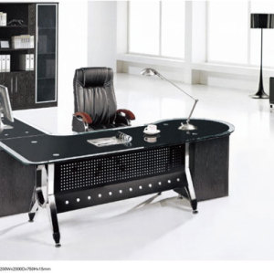 Black  Stainless Steel Office Furniture  Office Desk Public Furniture