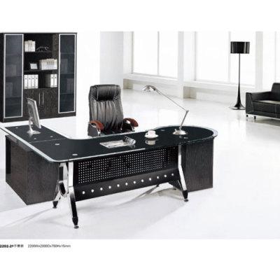 Black  Stainless Steel Office Furniture  Office Desk Public Furniture