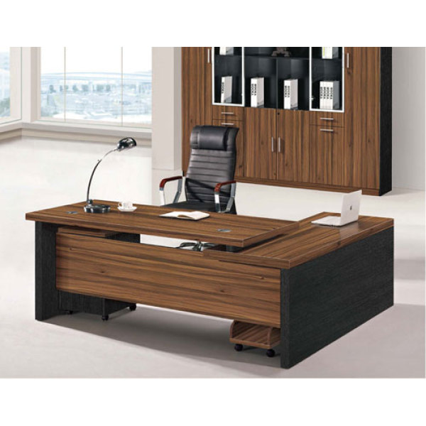 Stylish Office Furniture‎ Wood texture Executive desk
