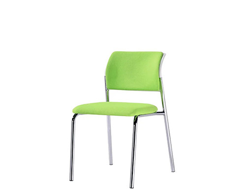 Mesh Office Stacking Chair with Green Fabric, PP back frame(YF-097-1)
